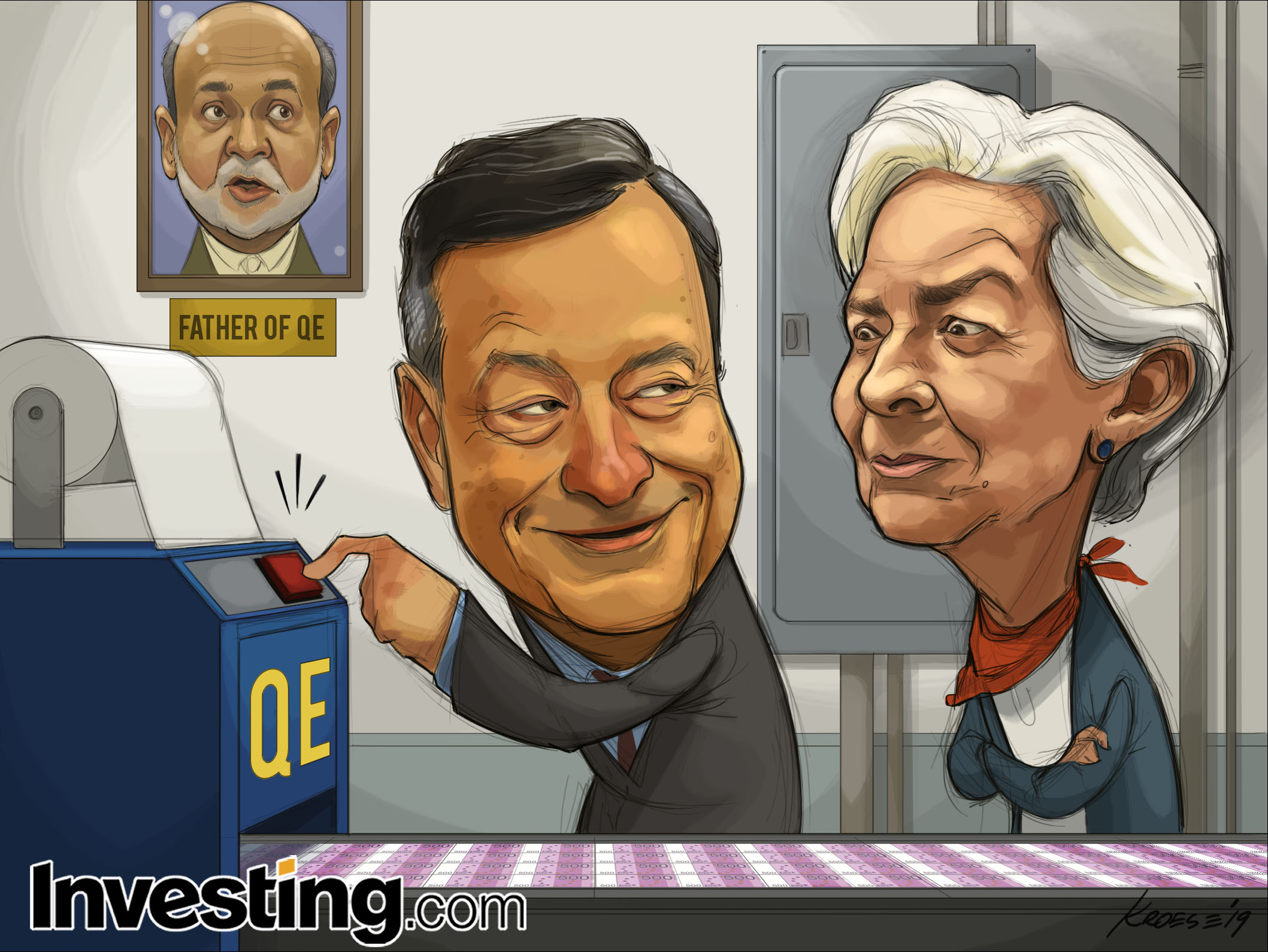 ECB Cuts Rates, Restarts QE As Draghi Era Ends